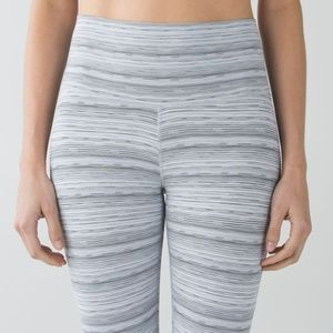 Lululemon High Times Cyber Stripe Silver Fox